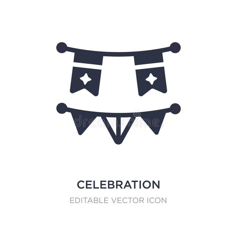 icono de las guirnaldas de la celebración en el fondo blanco Ejemplo simple del elemento del concepto de la Navidad ilustración del vector