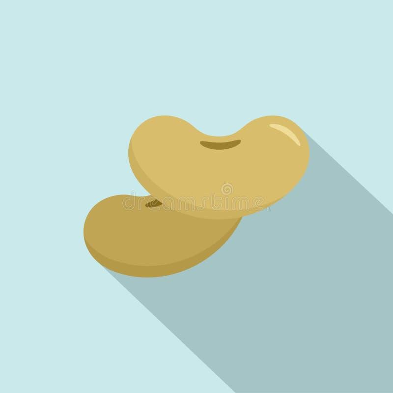 Icono de las habas, estilo plano stock de ilustración