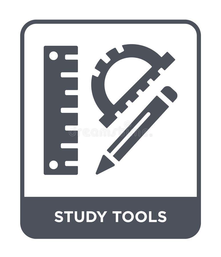 icono de las herramientas del estudio en estilo de moda del diseño icono de las herramientas del estudio aislado en el fondo blan stock de ilustración