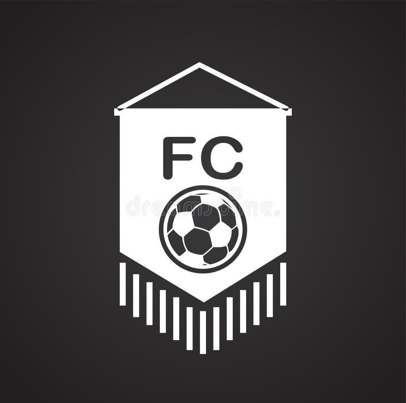 Icono de las insignias del club del fútbol en el fondo blanco para el gráfico y el diseño web, muestra simple moderna del vector  stock de ilustración