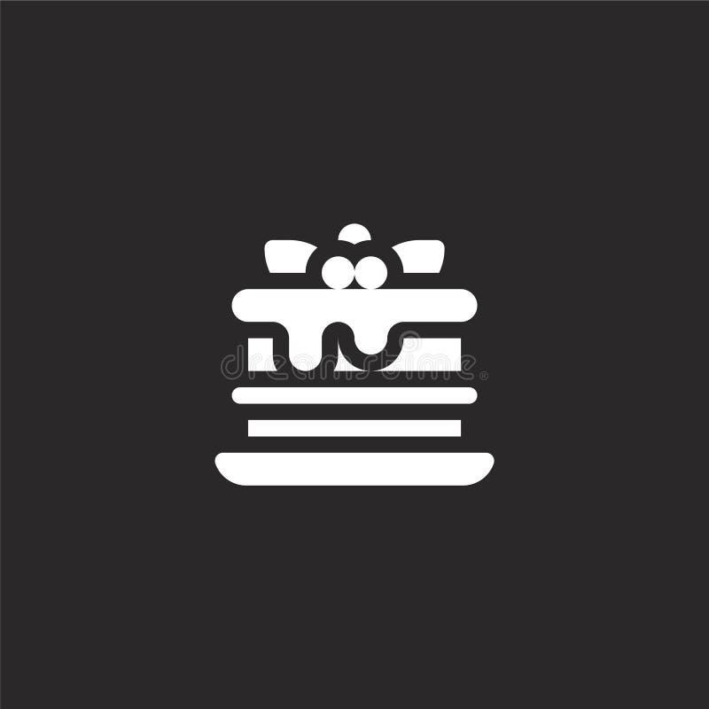 icono de las lasa?as Icono llenado de las lasañas para el diseño y el móvil, desarrollo de la página web del app icono de las las ilustración del vector