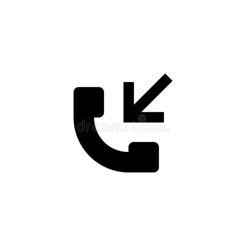 Icono de las llamadas entrantes Muestra del contacto del teléfono ilustración del vector