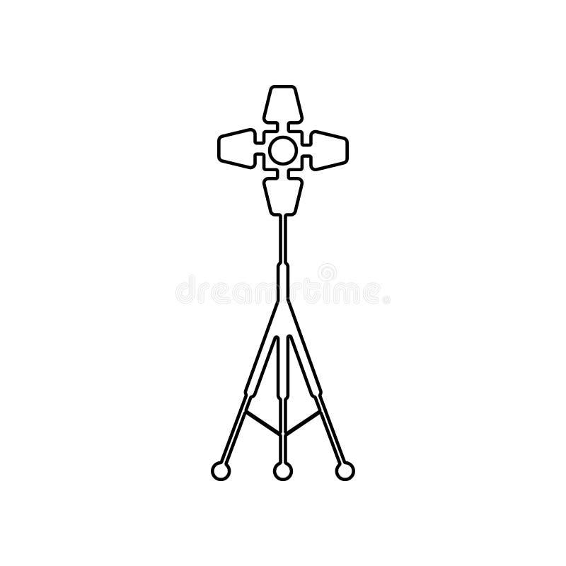 Icono de las luces del estudio E Esquema, l?nea fina icono para la p?gina web libre illustration