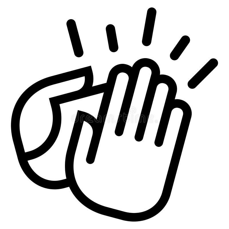 Icono de las manos que aplaude stock de ilustración