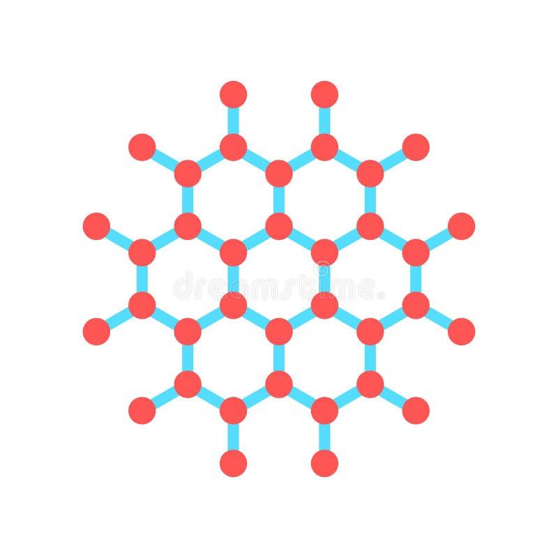 Icono de las moléculas Ejemplo del vector en estilo minimalista plano libre illustration