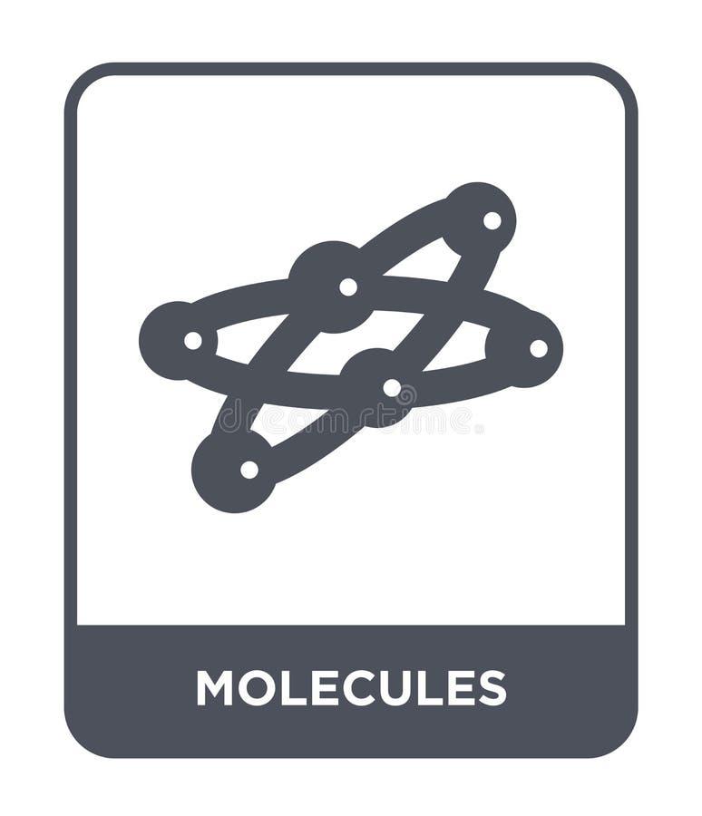 icono de las moléculas en estilo de moda del diseño icono de las moléculas aislado en el fondo blanco plano simple y moderno del  stock de ilustración