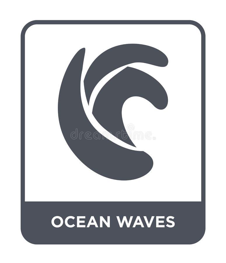 icono de las olas oceánicas en estilo de moda del diseño icono de las olas oceánicas aislado en el fondo blanco icono del vector  ilustración del vector