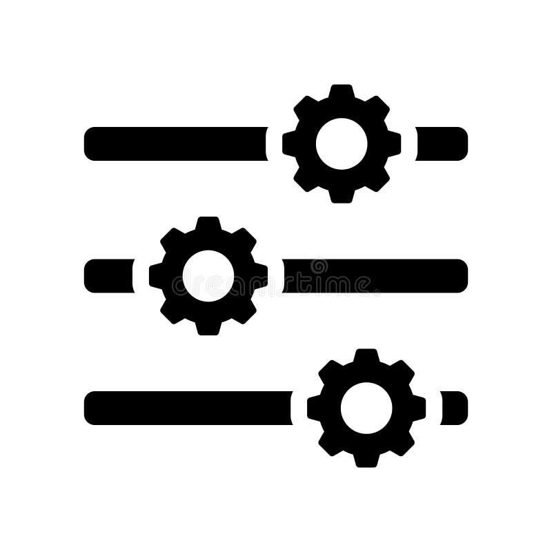 Icono de las opciones  stock de ilustración
