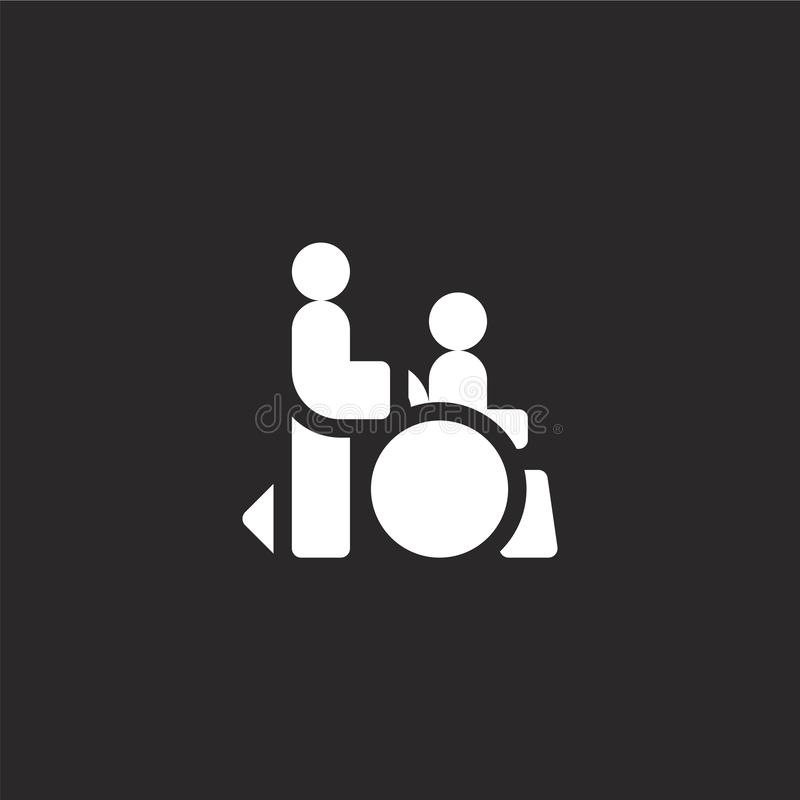 icono de las personas discapacitadas Icono llenado de las personas discapacitadas para el diseño y el móvil, desarrollo de la pág libre illustration