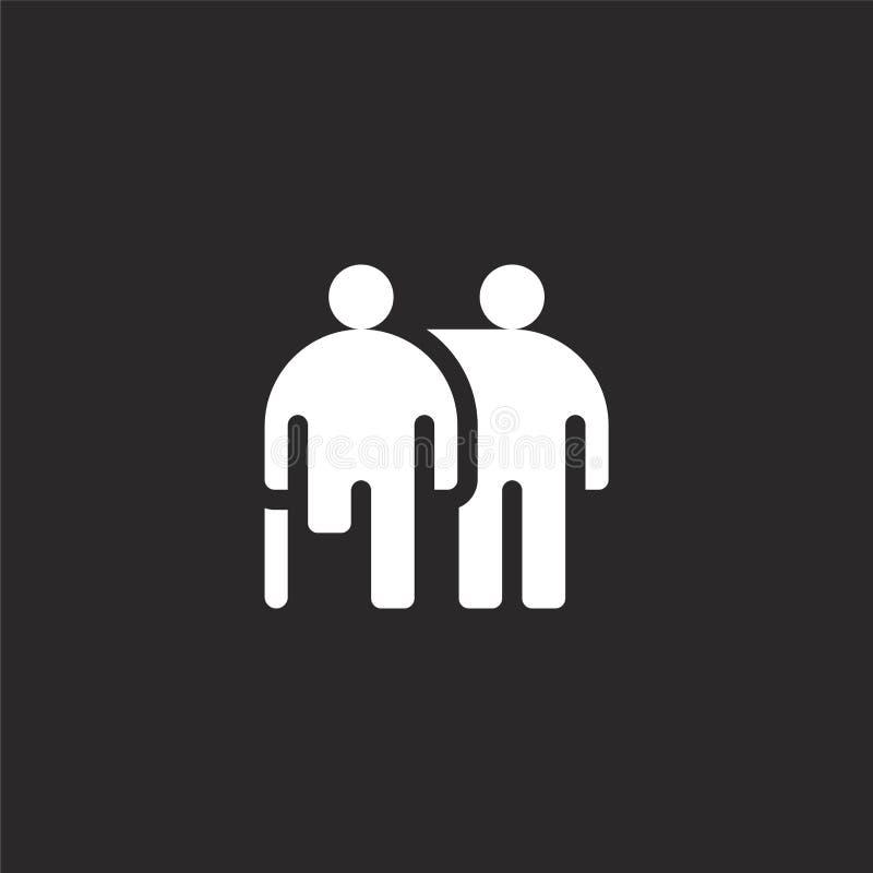 icono de las personas discapacitadas Icono llenado de las personas discapacitadas para el diseño y el móvil, desarrollo de la pág stock de ilustración