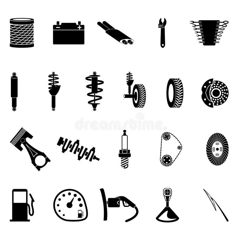 Icono de las piezas de automóvil libre illustration