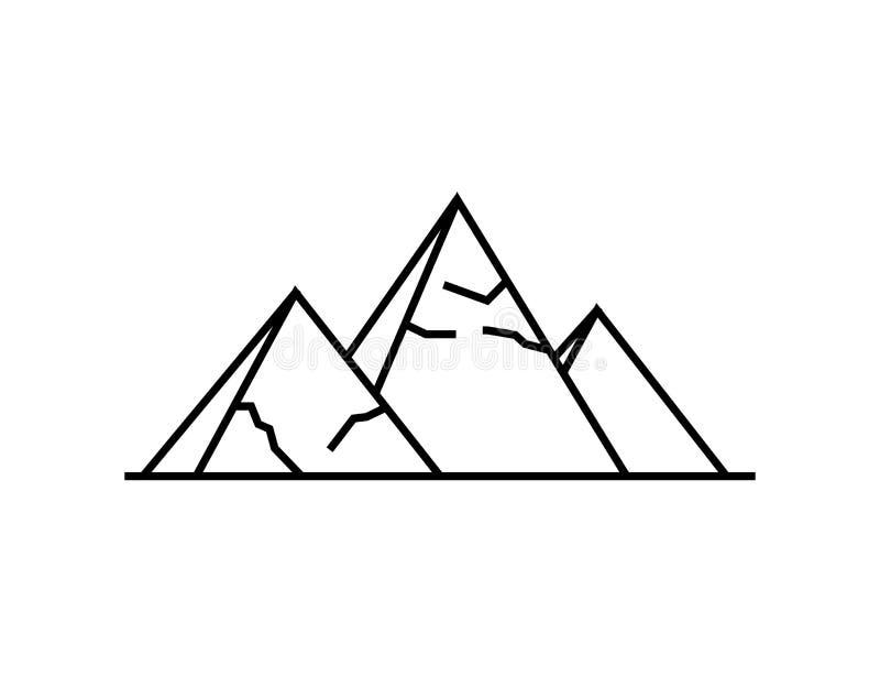 Icono de las pirámides Ejemplo simple del icono del vector de las pirámides para la web ilustración del vector