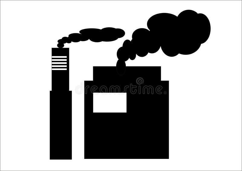 Icono de las plantas industriales imagenes de archivo
