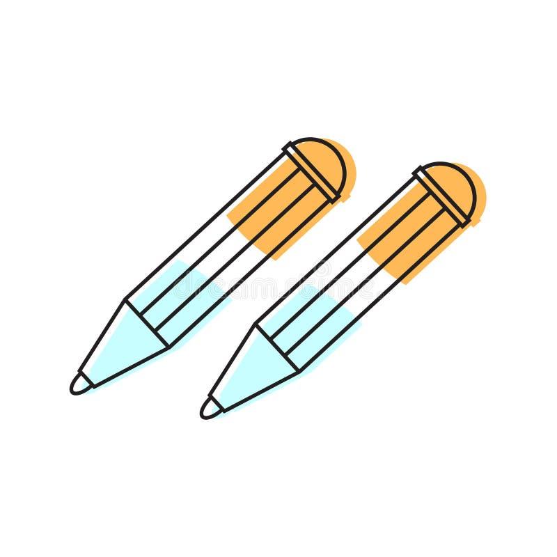 Icono de las plumas Elemento de la escuela para el dise?o ilustración del vector