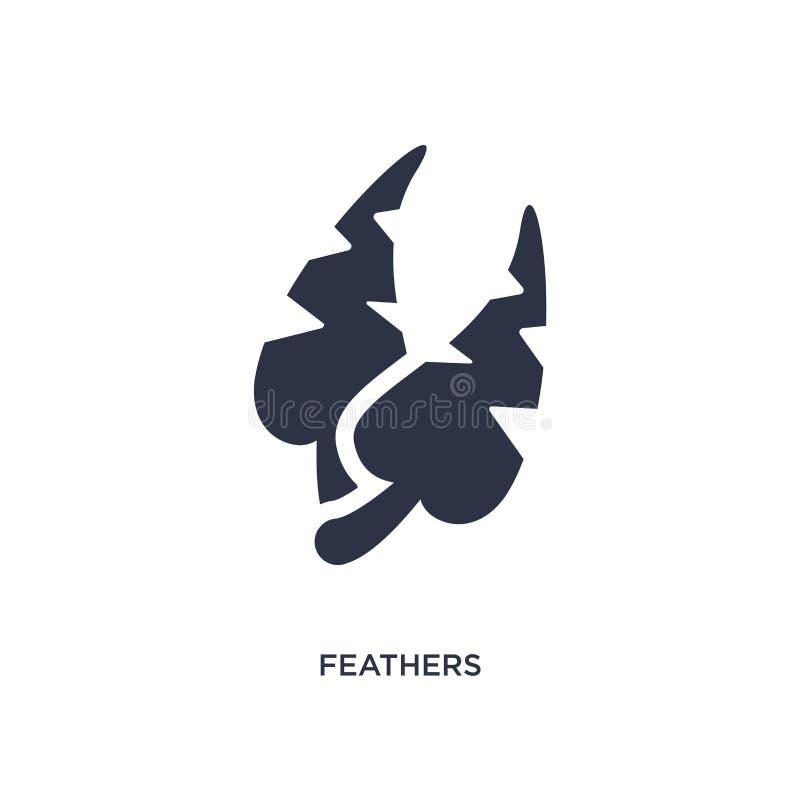 icono de las plumas en el fondo blanco Ejemplo simple del elemento del concepto del brazilia libre illustration