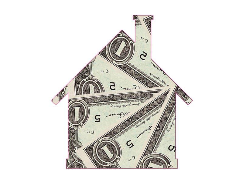Icono de las propiedades inmobiliarias de la hipoteca de la casa fotos de archivo