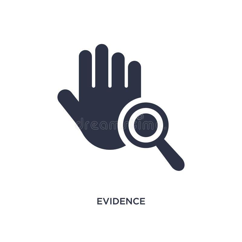 icono de las pruebas en el fondo blanco Ejemplo simple del elemento del concepto de la ley y de la justicia libre illustration