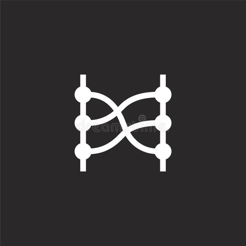 icono de las relaciones Icono llenado de las relaciones para el diseño y el móvil, desarrollo de la página web del app icono de l stock de ilustración