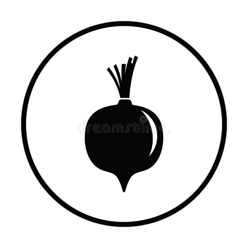 Icono de las remolachas ilustración del vector