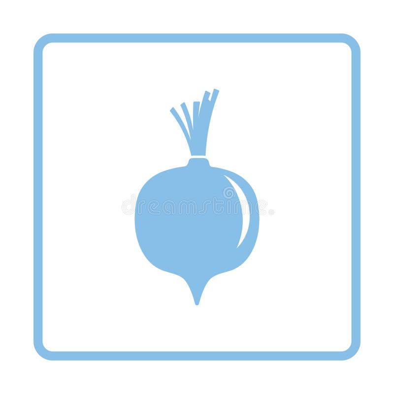 Icono de las remolachas stock de ilustración