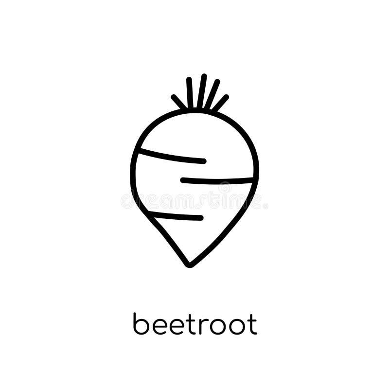 Icono de las remolachas de la colección de la fruta y verdura ilustración del vector