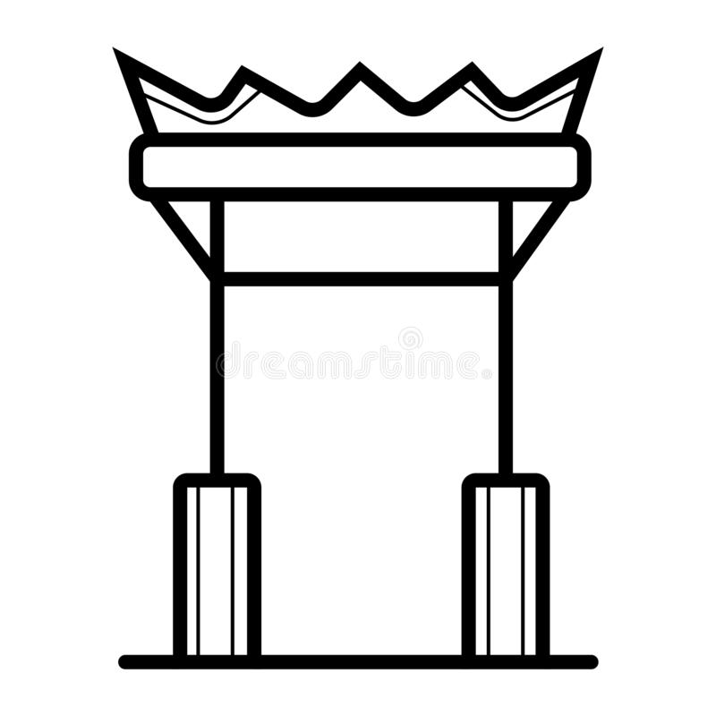 Icono de las señales de China stock de ilustración