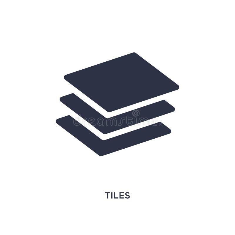 icono de las tejas en el fondo blanco Ejemplo simple del elemento del concepto de las herramientas de la construcción libre illustration