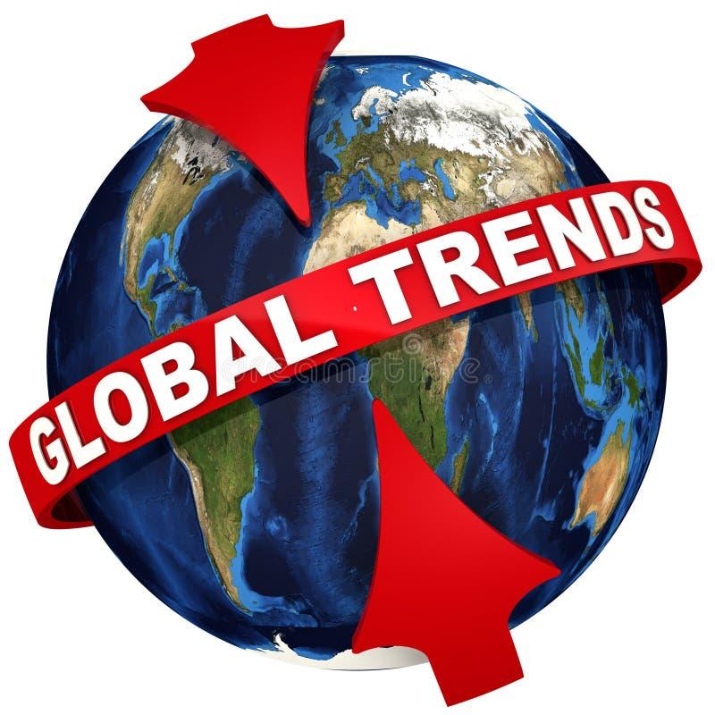 Icono de las tendencias globales ilustración del vector