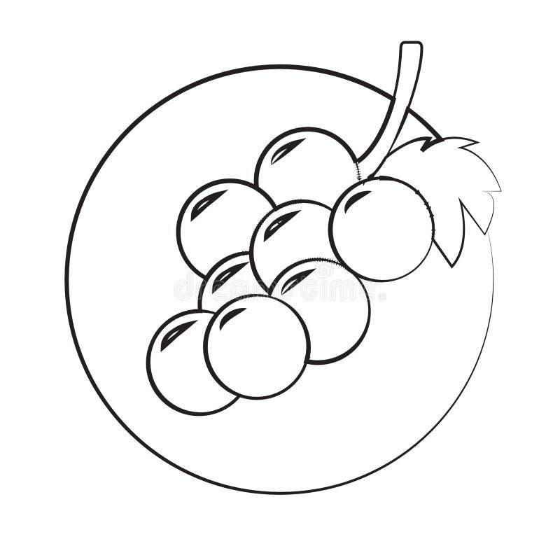 Icono de las uvas fotografía de archivo