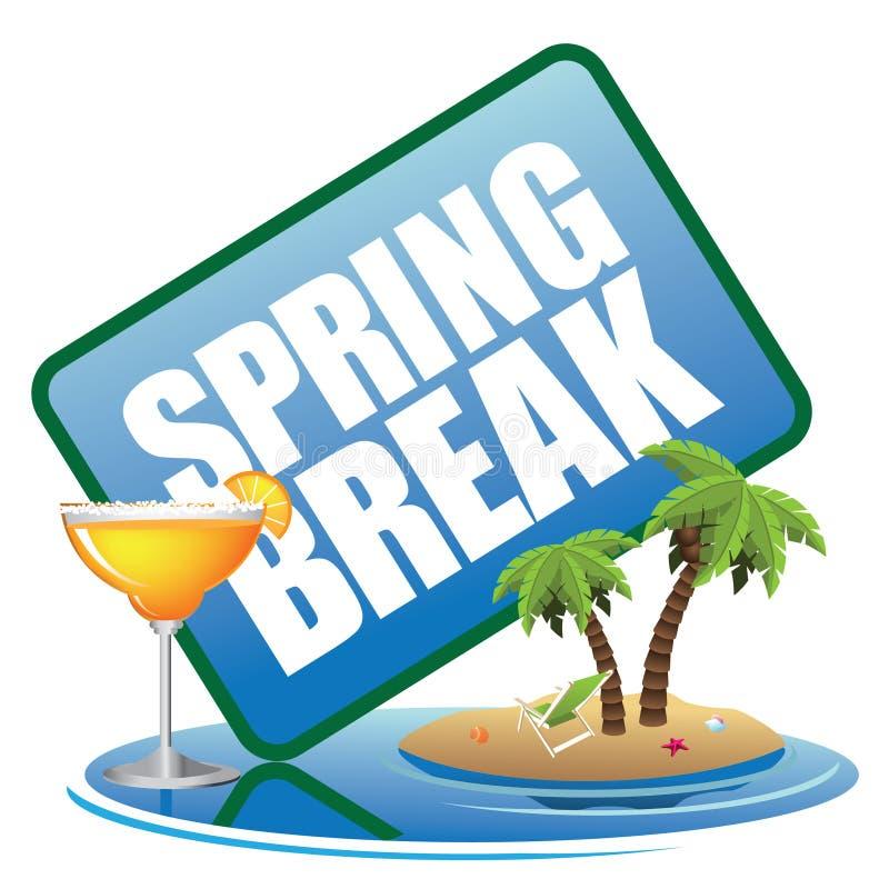 Icono de las vacaciones de primavera libre illustration
