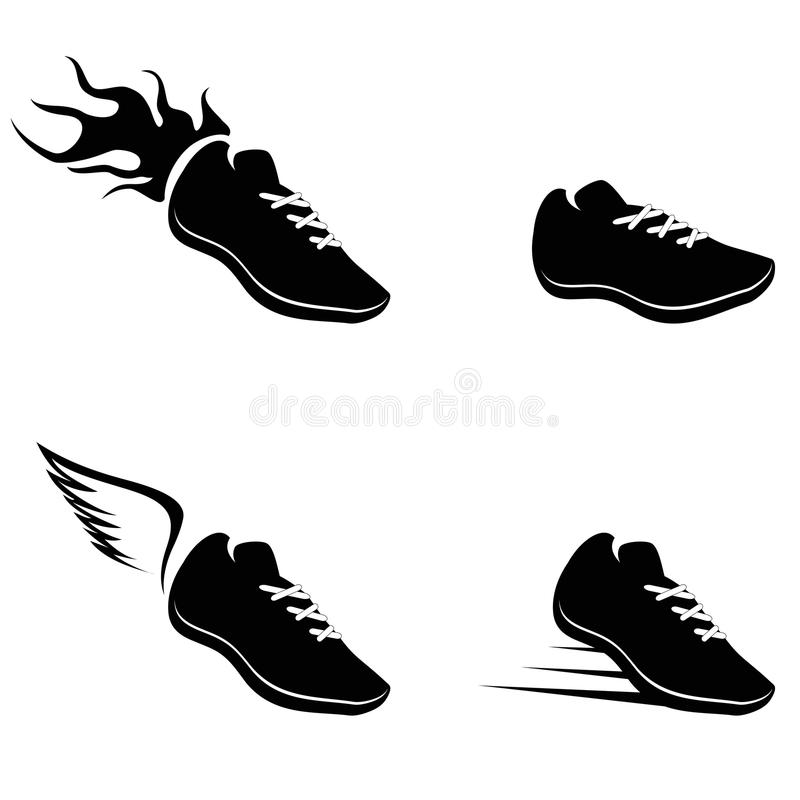 Icono de las zapatillas deportivas libre illustration