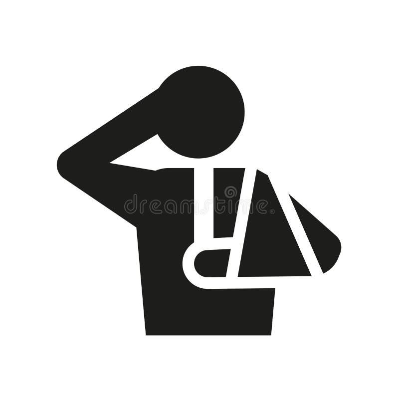 Icono de lesión  stock de ilustración