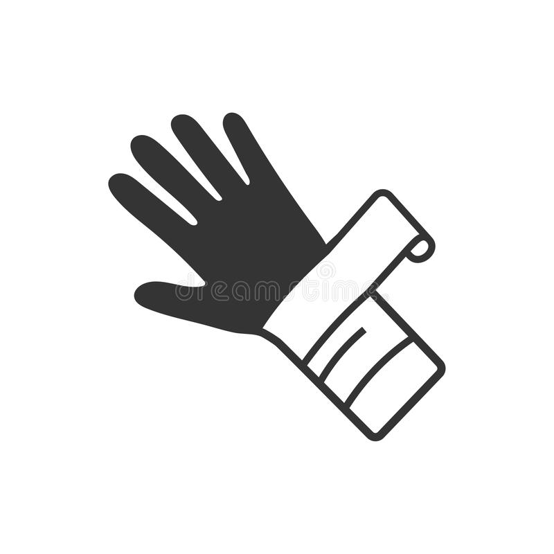 Icono de lesión de mano stock de ilustración
