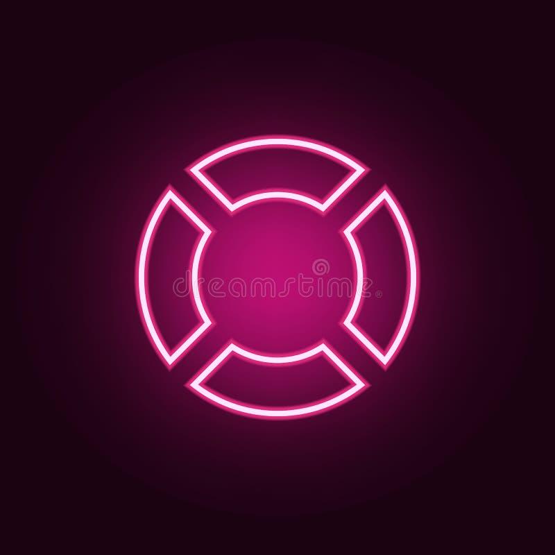 Icono de Lifebuoy Elementos de la web en los iconos de ne?n del estilo Icono simple para las p?ginas web, dise?o web, app m?vil,  libre illustration