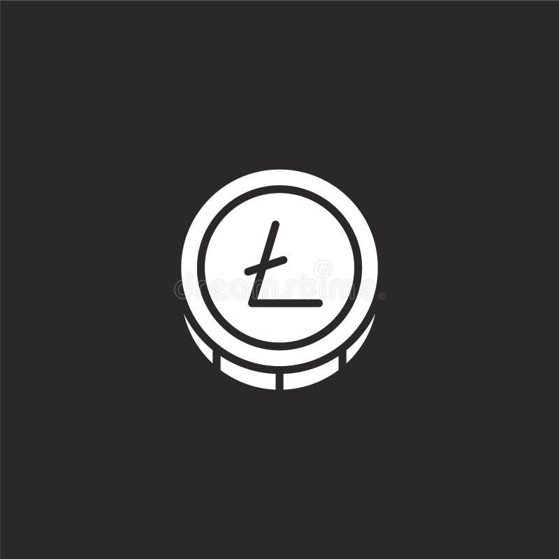 Icono de Litecoin Icono llenado de Litecoin para el diseño y el móvil, desarrollo de la página web del app Icono de Litecoin del  libre illustration