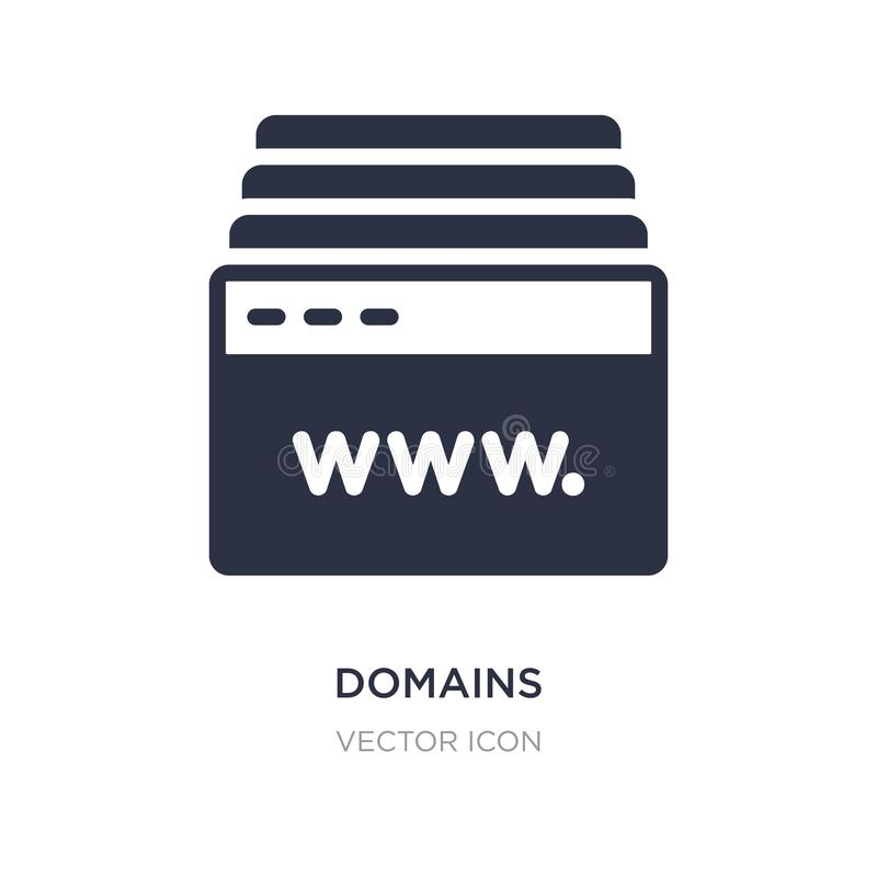 icono de los ámbitos en el fondo blanco Ejemplo simple del elemento del concepto del web hosting ilustración del vector