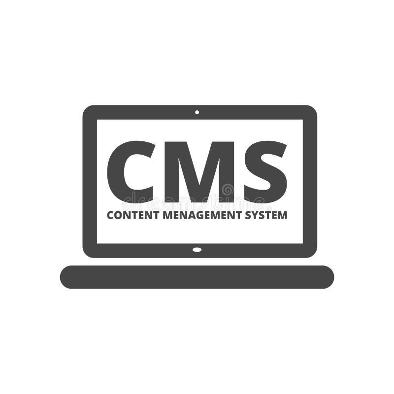 Icono de los ajustes de CMS stock de ilustración