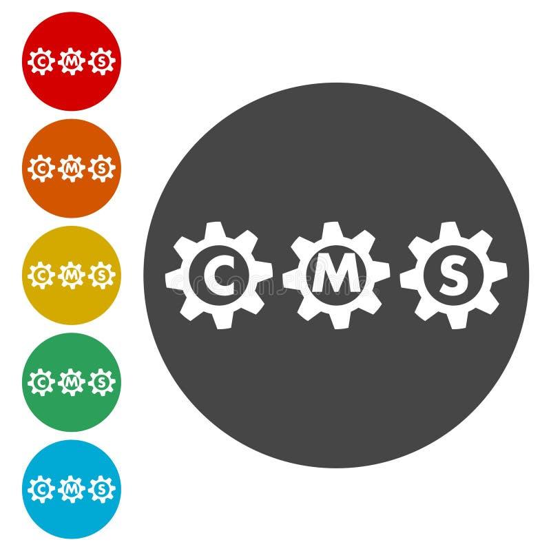 Icono de los ajustes de CMS libre illustration