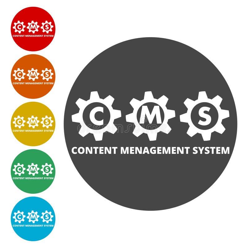 Icono de los ajustes de CMS ilustración del vector