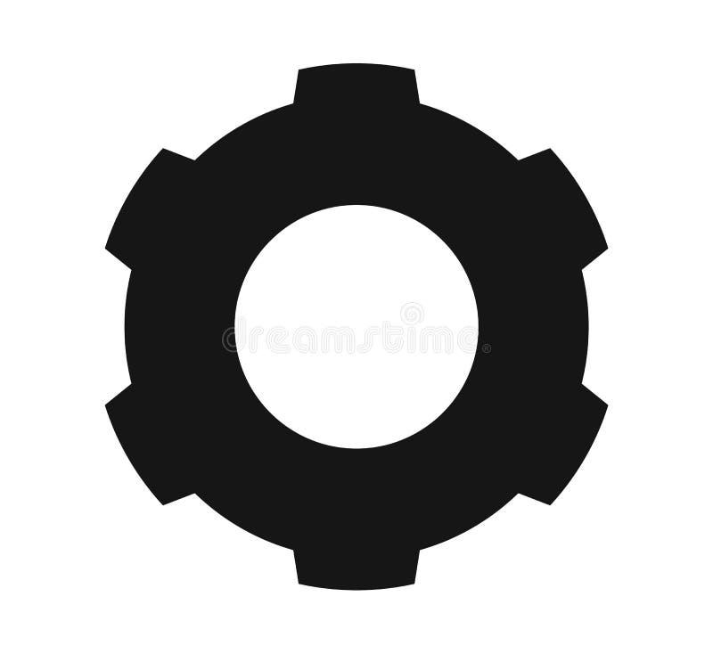 Icono de los ajustes con símbolo del engranaje ilustración del vector