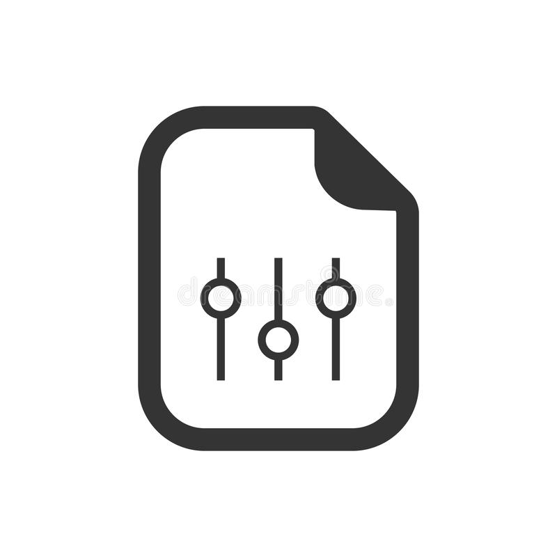 Icono de los ajustes del documento libre illustration