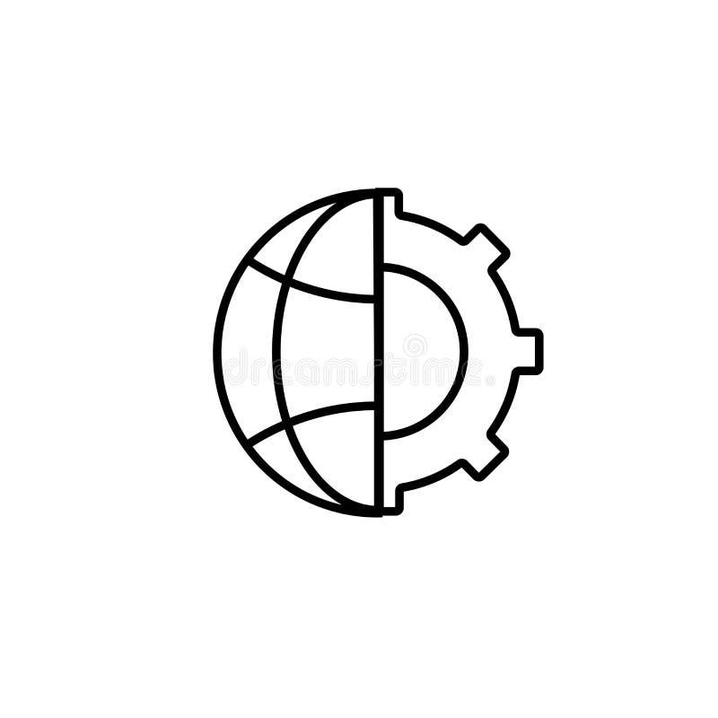 icono de los ajustes del globo ilustración del vector