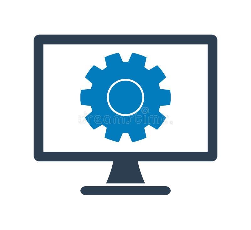 Icono de los ajustes del ordenador stock de ilustración