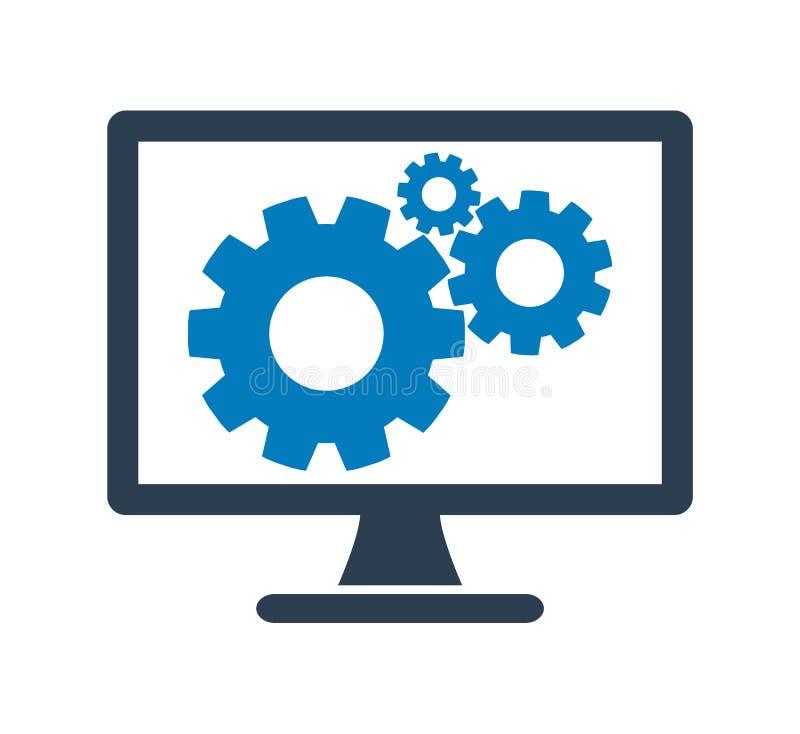 Icono de los ajustes del ordenador libre illustration