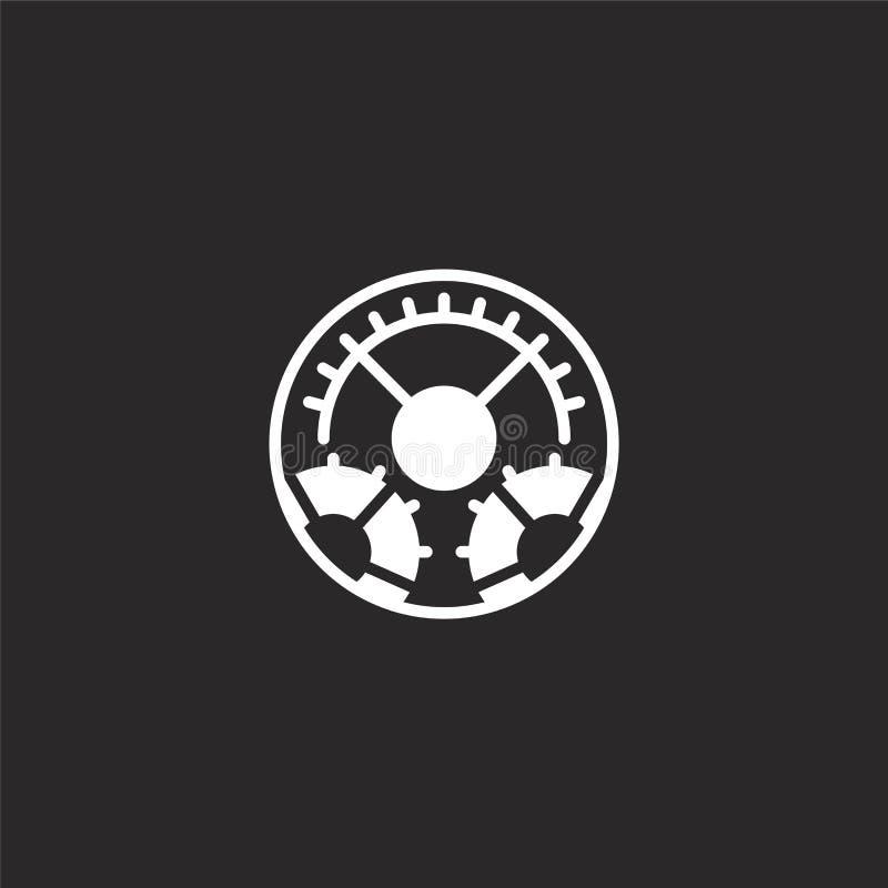 Icono de los ajustes Icono llenado de los ajustes para el diseño y el móvil, desarrollo de la página web del app icono de los aju ilustración del vector