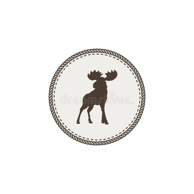 Icono de los alces Dsign del remiendo del animal salvaje Ejemplo común del vector aislado en el fondo blanco ilustración del vector