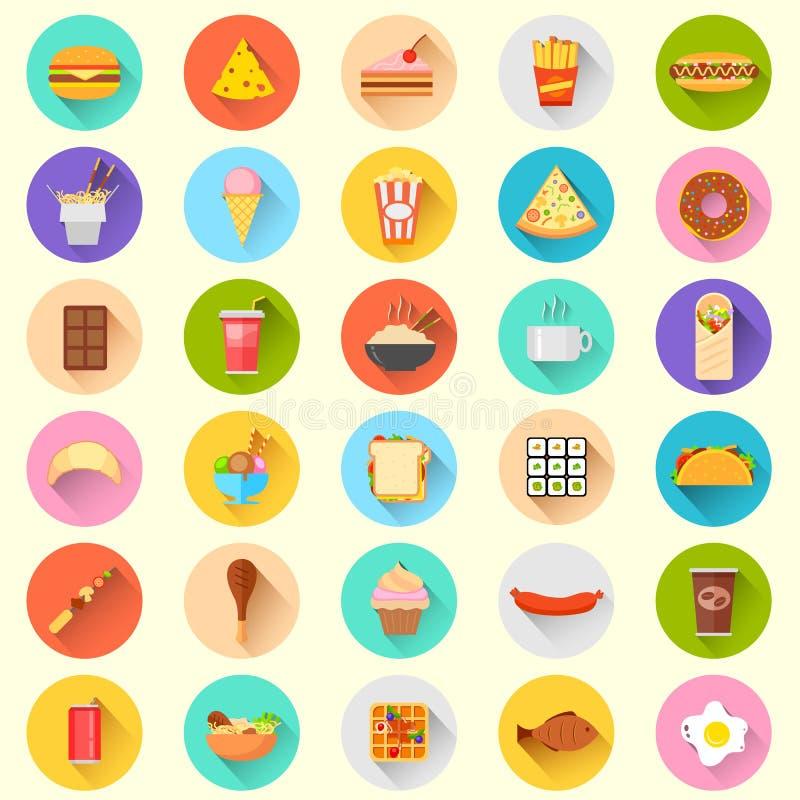 Icono de los alimentos de preparación rápida ilustración del vector