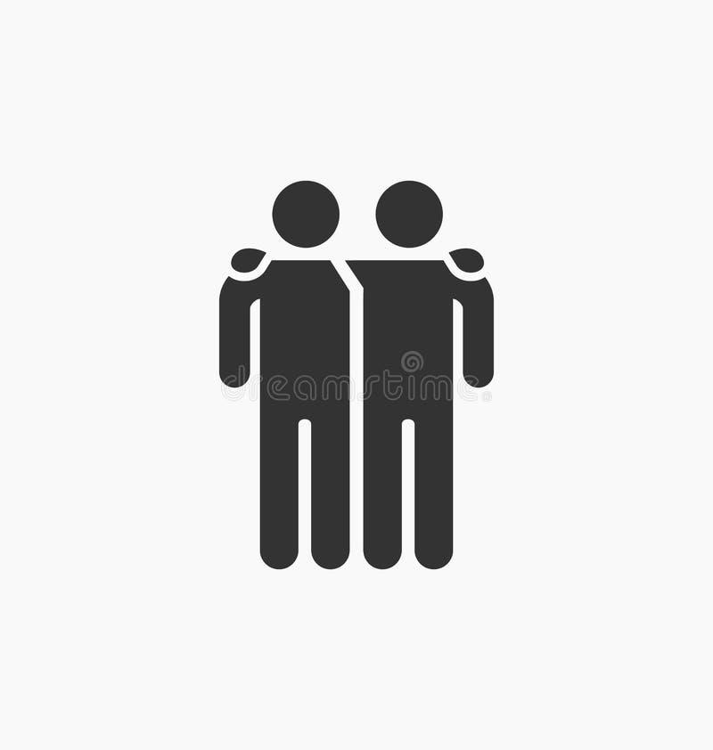 Icono de los amigos ilustración del vector