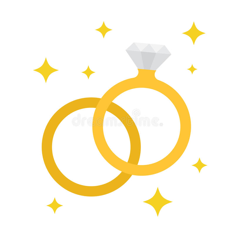 Icono de los anillos de bodas stock de ilustración