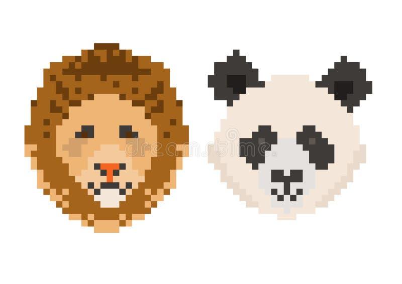 Icono de los animales del pixel stock de ilustración